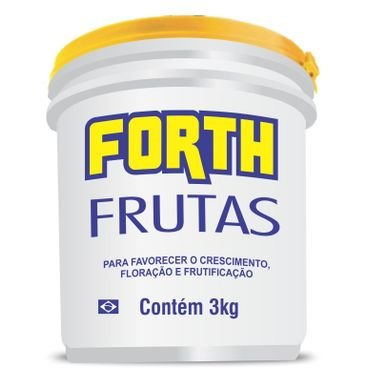 fertilizante farelado forth frutas 3kg