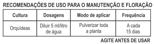 fertilizante liquido orquidea forth manutencao floracao como usar