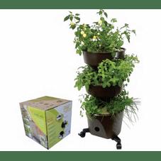 vaso horta vertical grande verde vida