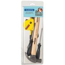 kit ferramentas tramontina faca voce mesmoa martelo fenda trena
