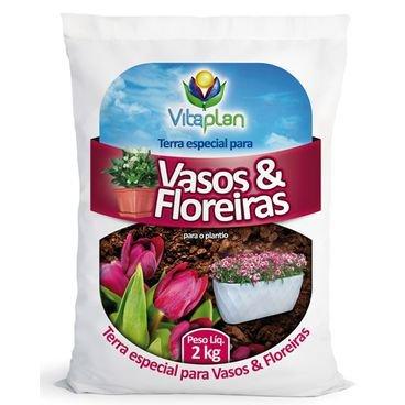 terra especial para vasos e floreiras vitaplan