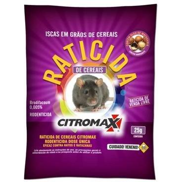 raticida granulado cereais citromax 25g