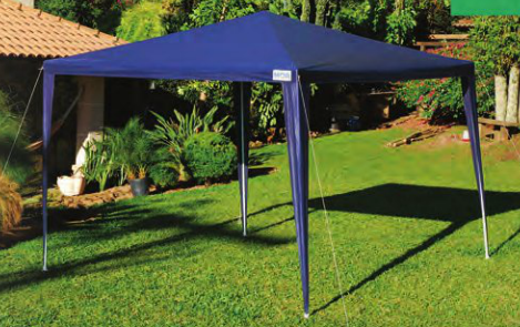 gazebo mor rafia 3x3x2 azul caixa camping