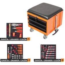 caixa cargobox confort 60 pecas tramontina linha profissional jogo ferramentas