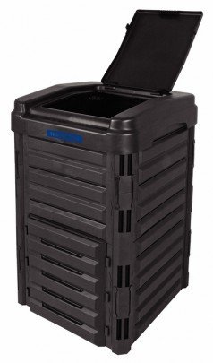 composteira plastica tramontina 250litros montada aberta tampa