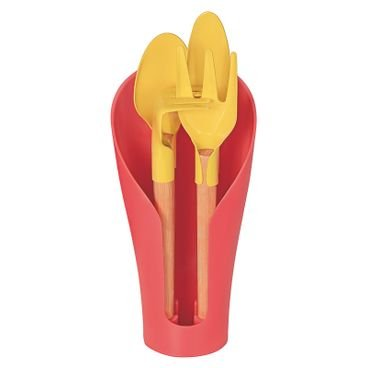kit utensilios para vaso coccon tramontina rosa frente