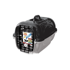 caixa transporte panther plastpet cachorro preto