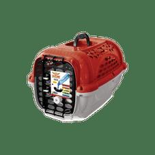 caixa transporte panther plastpet cachorro vermelho