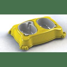 bebedouro comedouro new pratic plastpet amarelo