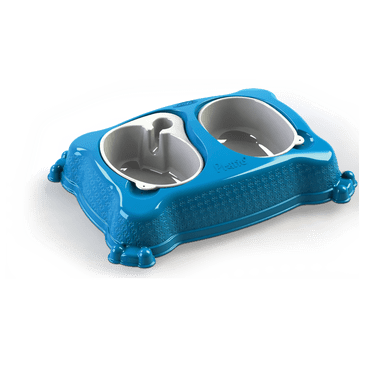 bebedouro comedouro new pratic plastpet azul