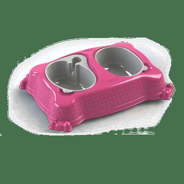 bebedouro comedouro new pratic plastpet rosa