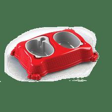 bebedouro comedouro new pratic plastpet vermelho