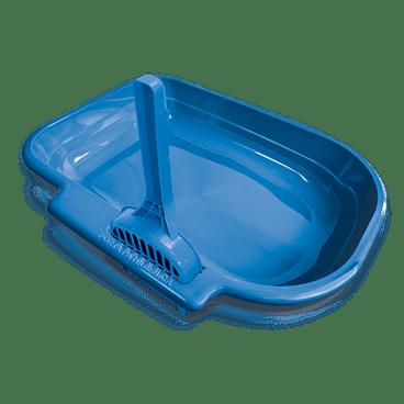 banheiro para gato bandeja com porta pa azul