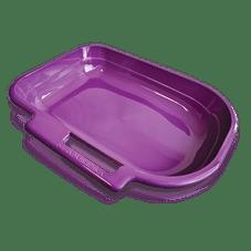 banheiro para gato bandeja com porta pa lilas