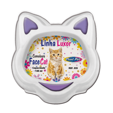 comedouro gatos face cat lilas