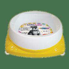 comedouro para filhotes cachorro 300ml luxor amarelo