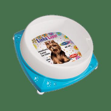 comedouro para filhotes cachorro 300ml luxor azul