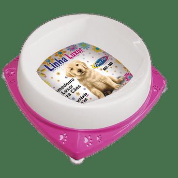 comedouro para filhotes cachorro 300ml luxor rosa