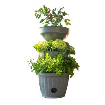 mini horta compacta vertical verde vida cinza novo
