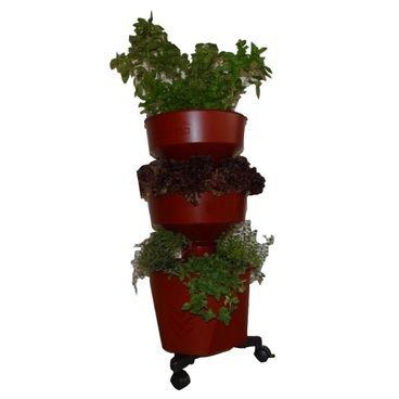 vaso horta vertical grande verde vida bordo novo
