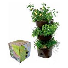 vaso horta vertical grande verde vida sem rodizio novo