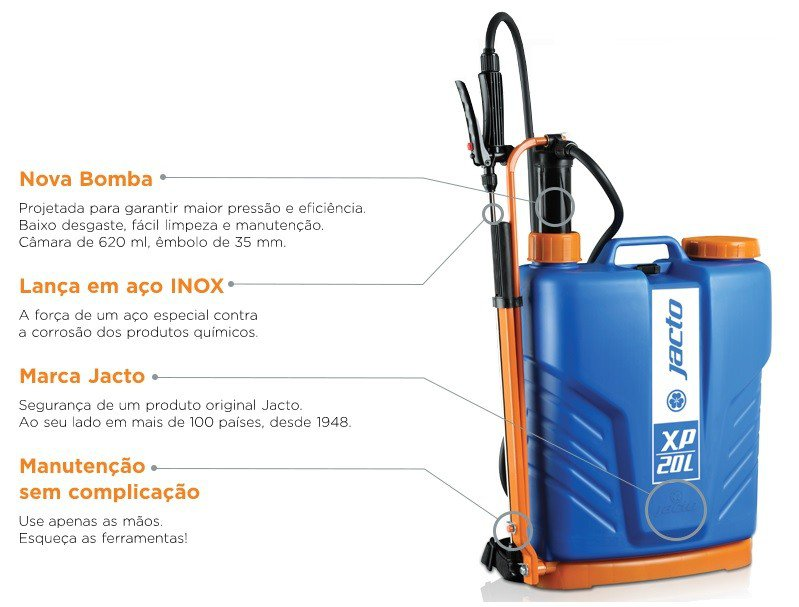 pulverizador manual costal xp 20l caracteristicas