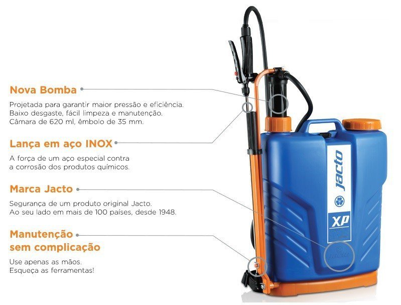 pulverizador manual costal xp 16l caracteristicas caract