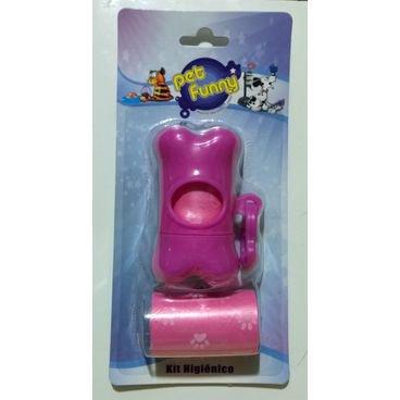 kit higienico plastico pet smart rosa