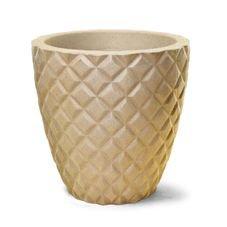 vaso diamante redondo 43 areia