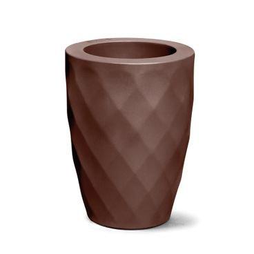 vaso safira conico 40 tabaco