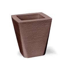 vaso grafiato trapezio 35 tabaco