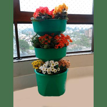 horta vertical verde vida com rodizio verde sem rodizio