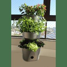 horta vertical verde vida prata sem rodizio