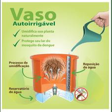 vaso auto irrigavel raiz funcionamento anti dengue