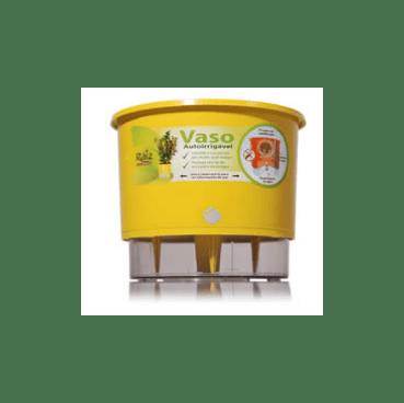 vaso auto irrigavel raiz funcionamento detalhe amarelo