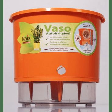 vaso auto irrigavel raiz funcionamento detalhe laranja
