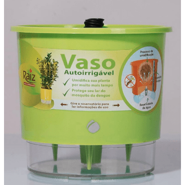 vaso auto irrigavel raiz funcionamento detalhe verde claro