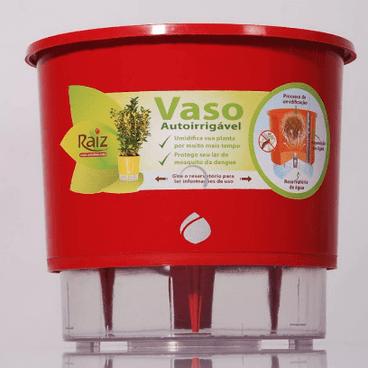 vaso auto irrigavel raiz funcionamento detalhe vermelho