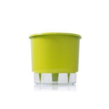 vaso auto irrigavel raiz verde claro