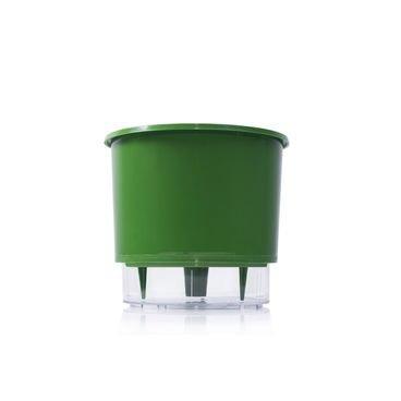 vaso auto irrigavel raiz verde escuro