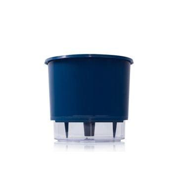 azul escur vaso raiz auto irrigavel
