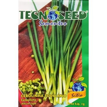 semente cebolinha todo ano tecnoseed