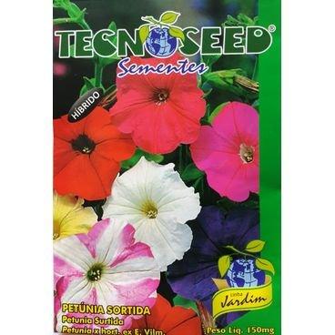 semente flor petunia sortida tecnoseed