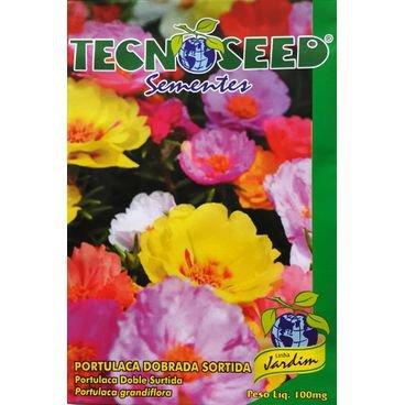 semente flor tportulaca dobrada sortida tecnoseed