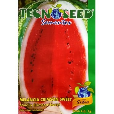semente melancia crimson sweet tecnoseed