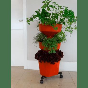 horta compacta vertical verde novovida telha rodizio