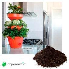 mini horta telha verde vida autoirrigavel com substrato