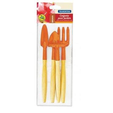 conjunto para vasos tramontina 78104801 laranja estojo