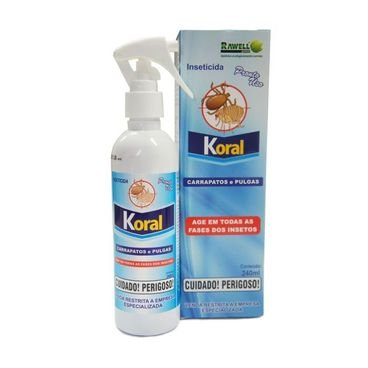 inseticida pronto uso koral carrapatos pulgas rawell
