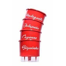 vaso autoirrigavel raiz pimenta vermelho kit completo